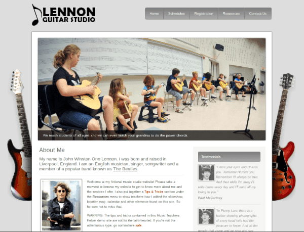 Music Teacher Website